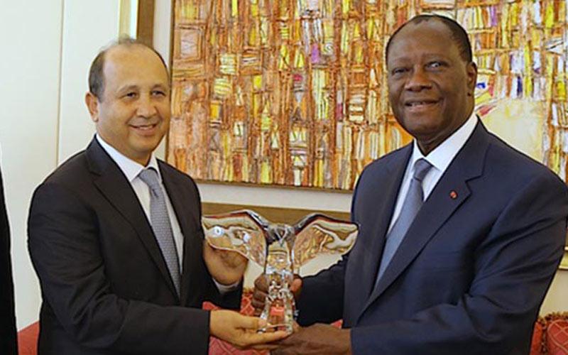 Ahizoune reçu en audience par le président ivoirien Alassane Ouattara