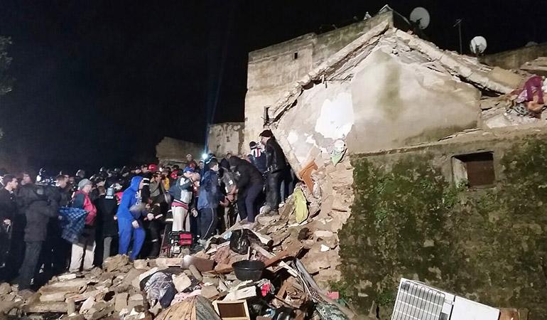 Effondrement à Casablanca : le bilan porté à deux morts et 5 blessés