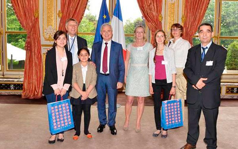 Myriam Bourhail reçue à l'assemblée nationale française