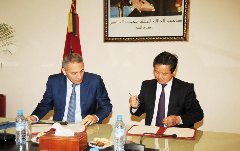 Signature d'une lettre d'intention: Les Chinois veulent s'implanter en force au Maroc