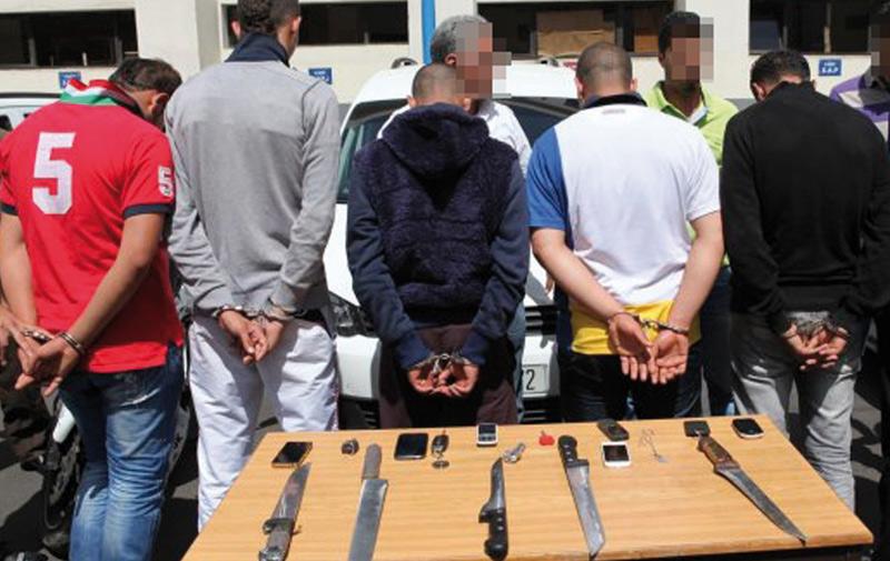 Casablanca : Cinq malfaiteurs, dont 2 mineurs, mis sous les verrous