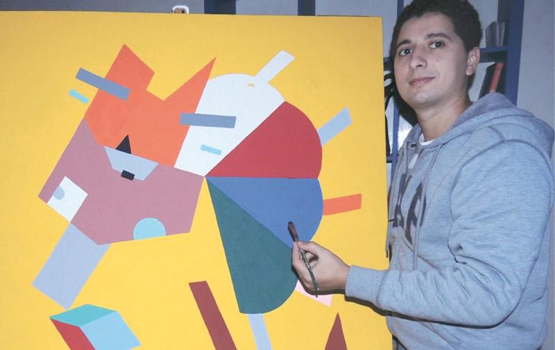 Portrait du jeune artiste-peintre Marouane Traichine: Du défi mêlé aux couleurs  pour donner de la joie