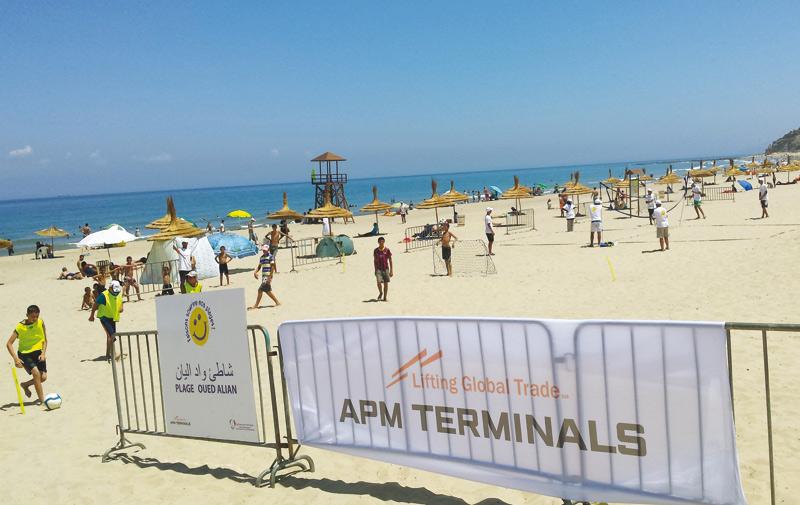 APM Terminals Tangier veut hisser le Pavillon bleu sur la plage Oued Aliane