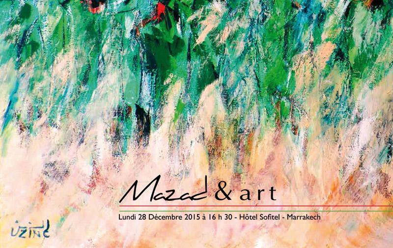 Mazad et Art organise une vente aux enchères: De la peinture, des photographies et même une voiture de collection