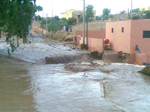 Benni Mellal : Les pluies causent des dégâts matériels importants