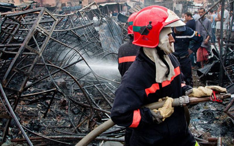 Le marché Souk Tlate d'Inezgane ravagé par un incendie