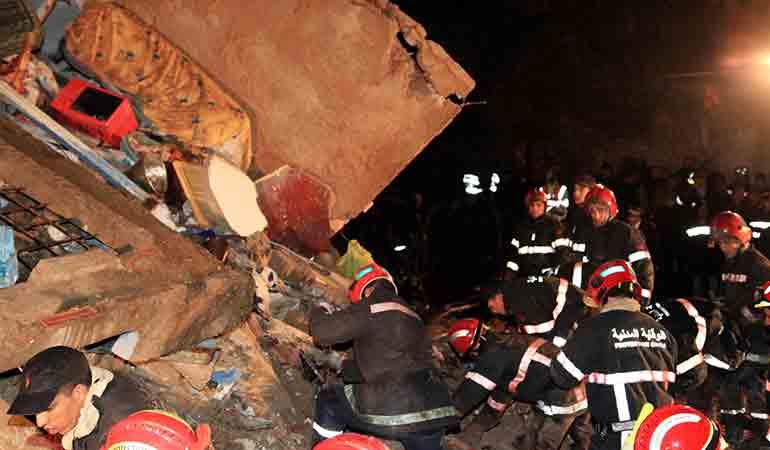 Effondrement de deux maisons à Casablanca : Plusieurs blessés sont à déplorer