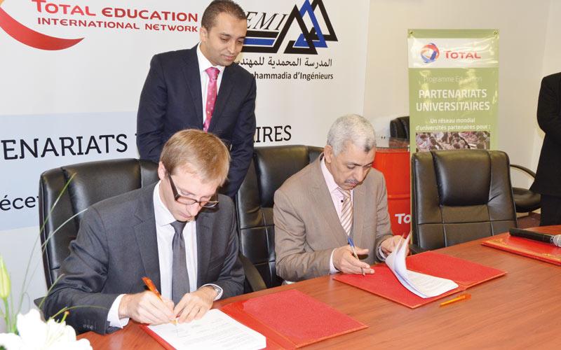 Total Maroc : Convention avec l'EMI