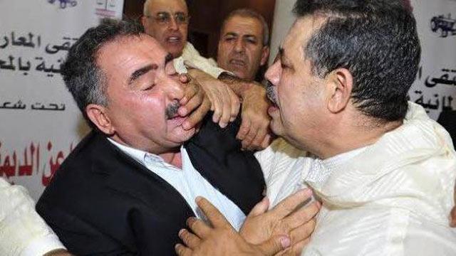 Chabat et Lebbar en boxeurs