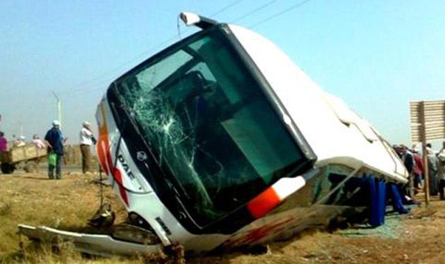 Sidi Kacem : Le renversement d'un autocar fait 40 blessés