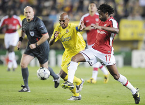 L'Arsenal se lance contre Villarreal