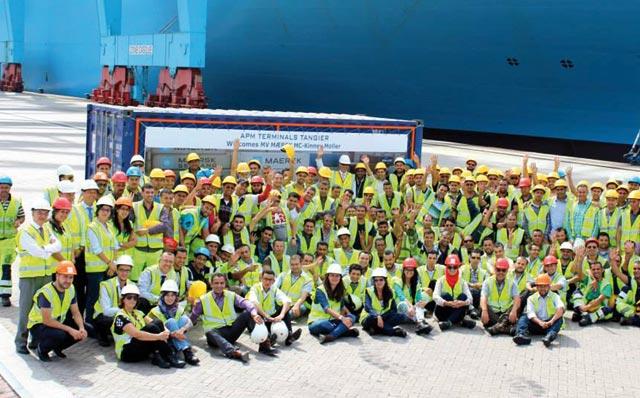 Un record mondial battu à Tanger Med: Près de 15.720 EVP chargés à l  APM  Terminals Tangier