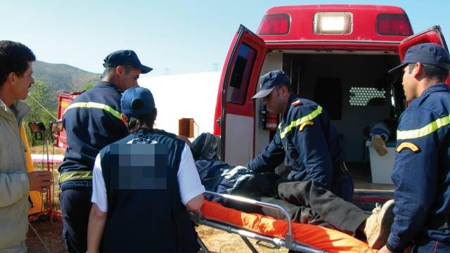 Quinze blessés, dont huit graves, dans un accident de la route près de Tan Tan
