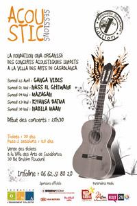 Cinq concerts acoustiques à la Villa des arts de Casablanca
