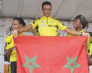 Tour cycliste international de Tunisie : Adil Jalloul conserve le maillot jaune