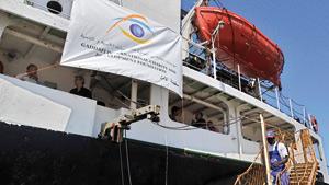 Amalthéa à quai dans le port égyptien d'Al-Arich