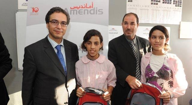 Tanger : Amendis offre des cartables et des fournitures scolaires à 1.000 enfants démunis
