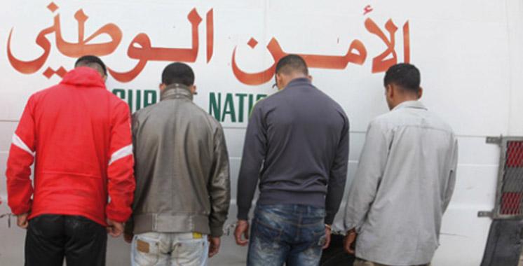Casablanca : Arrestation de 4 malfrats d'une  bande spécialisée dans les agressions