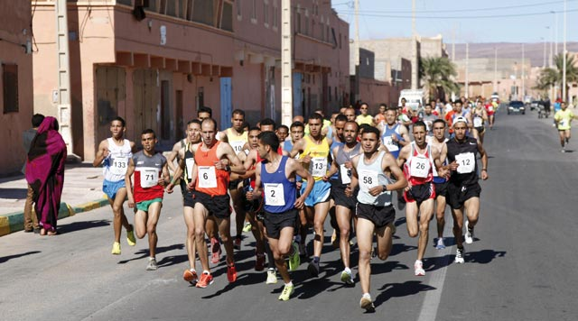 Course internationale sur route feu Rah Fdaili