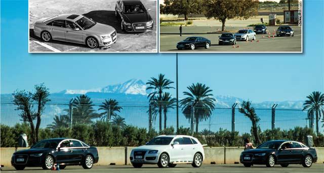 Audi Driving Experience : Les anneaux enflamment Marrakech