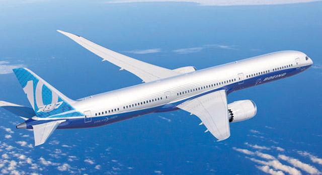 Baptême de l'air pour le 7787-9 Dreamliner de Boeing