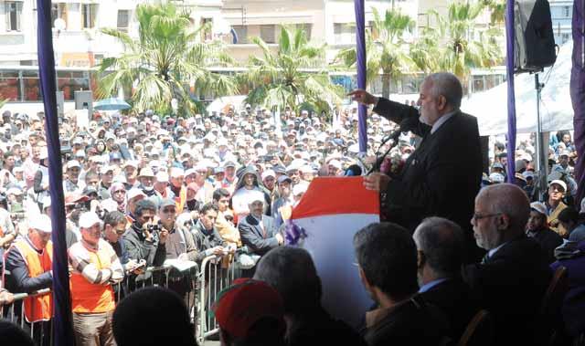Benkirane harangue les foules à Casablanca