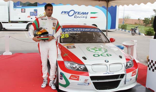 Sports automobiles : Afriquia soutient Mehdi Bennani  au Marrakech Grand Prix