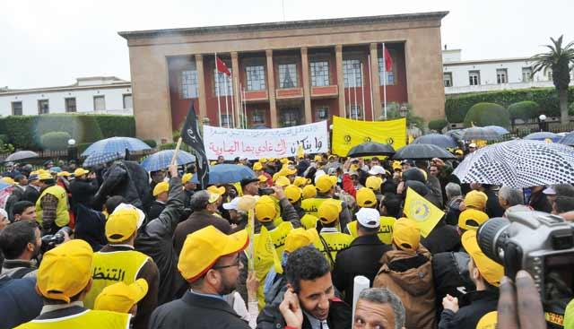Marche conjointe de la CDT et de la FDT à Rabat