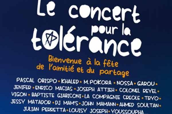 7ème édition du Concert pour la tolérance : Ahmed Soultan, Vigon et Khaled exaltent les valeurs de paix