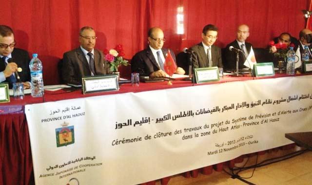 Système d alerte aux crues : Le projet d extension inauguré  au Tensift