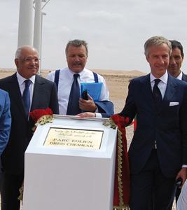Inauguration du nouveau parc éolien de Ciments du Maroc à Laâyoune