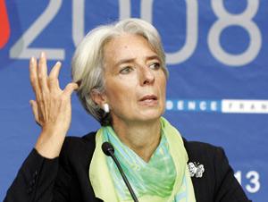 Christine Lagarde, ministre tête de Turc de la récession