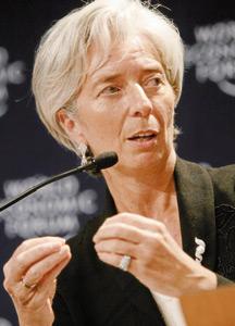 Christine Lagarde ne croit pas à une faillite de la Grèce