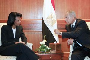 Condoleezza Rice en Egypte pour une réunion du Quartette