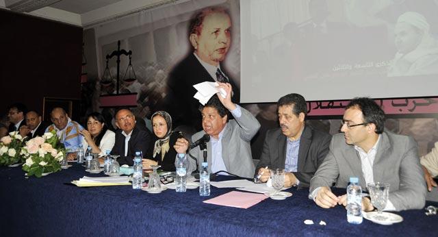 Le conseil national décide le retrait du cabinet Benkirane