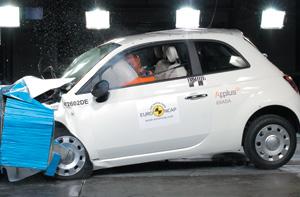 Sécurité : Crash-tests EuroNCAP : 5 étoiles pour la Fiat 500
