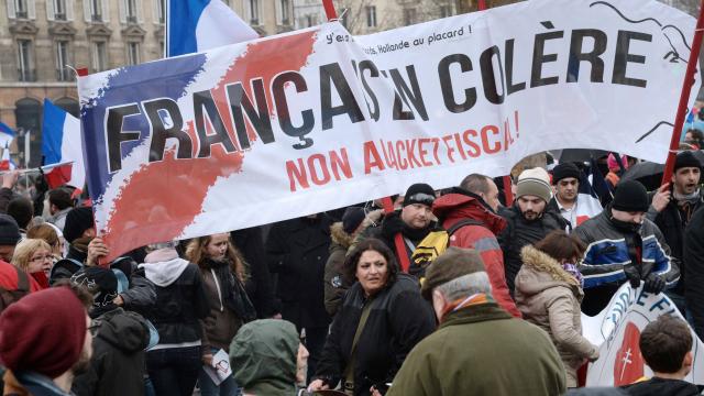 France : Environ 250 interpellations lors du « jour de la colère » contre François Hollande