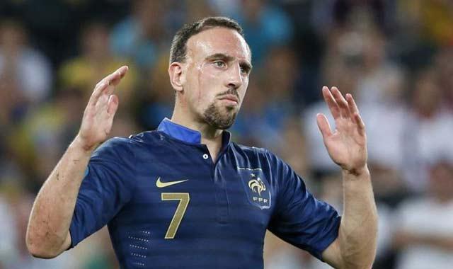 Football: Franck Ribéry sacré meilleur joueur français de l'année 2013