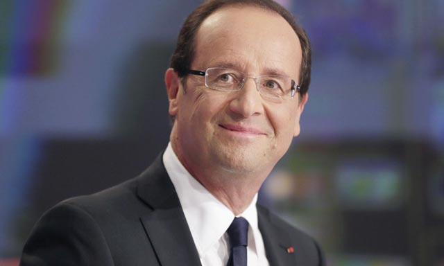 François Hollande chez la CGEM et le Medef
