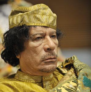 Kadhafi déplore la fermeture des frontières entre le Maroc et l'Algérie