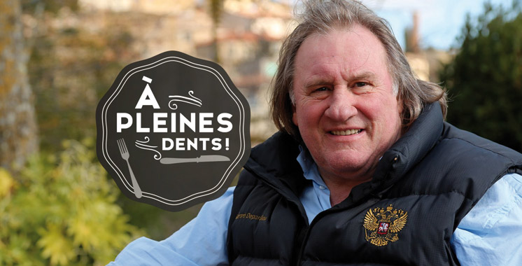Gérard Depardieu achève le tournage de la série  «A Pleines Dents» à Fès