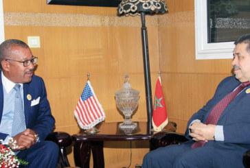 Hamid Chabat reçoit l'ambassadeur des Etats-Unis à Rabat