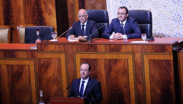 Le président Hollande devant les parlementaires: «Le Maroc s affirme comme un pays  de stabilité et de sérénité»