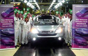 Honda Motor : Deux millions à Swindon