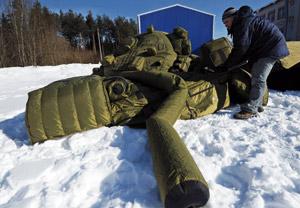 La Russie s'équipe en tanks et missiles… gonflables