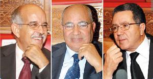 Mohamed Cheikh Biadillah, Mohamed Fadili et Maâti Benkaddour en lice
