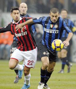 Calcio : l'Inter souffre mais remporte le derby face à l'AC Milan