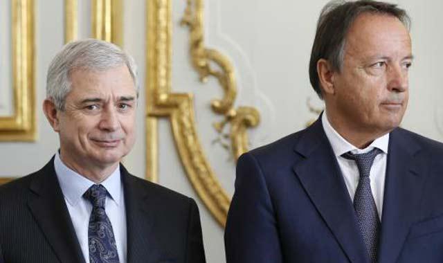 Les présidents de l'Assemblée nationale et du Sénat français se recueillent au mausolée Mohammed V