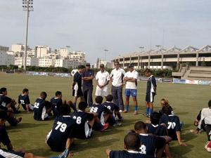 Les enfants d'Al Qods Acharif rencontrent une équipe d'Al kadam addahabi