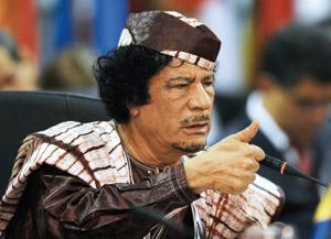 Mouammar Kadhafi annule une escale au Canada